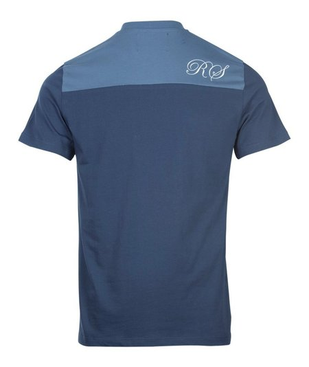 Fred Perry x Raf Simons Embroidered Initial T-Shirt - Blue