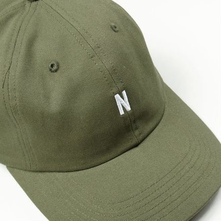 Norse Projects Twill Sports Cap - Ivy Green