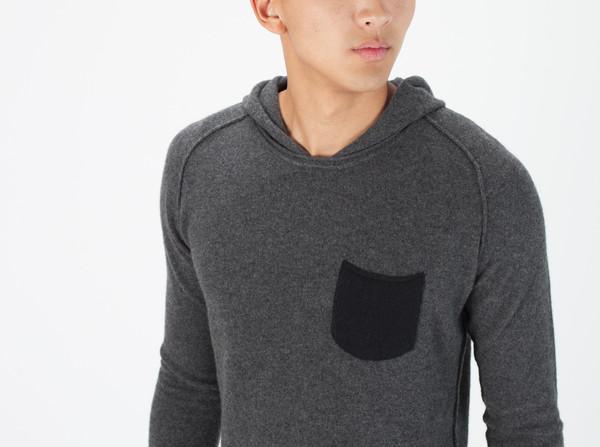 Men's Avant Toi Hooded Knit Sweatshirt