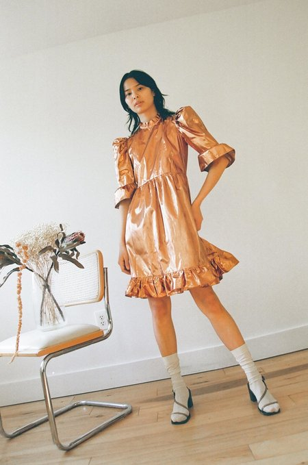 e662151d75240 BATSHEVA Prairie Dress - Metallic Copper BATSHEVA Prairie Dress - Metallic  Copper