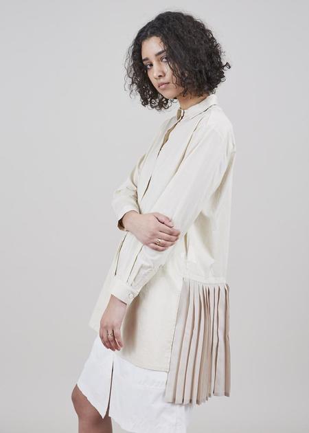 Yoshi Kondo Hero Pleated Shirt - Beige