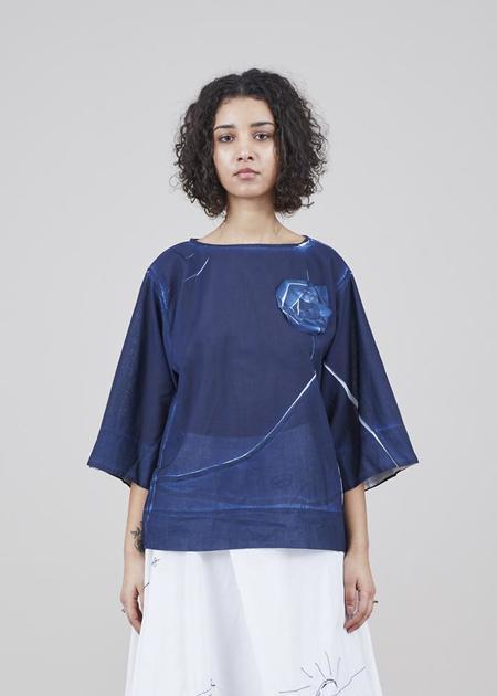 Yoshi Kondo Jill Half Sleeve Shirt - Navy