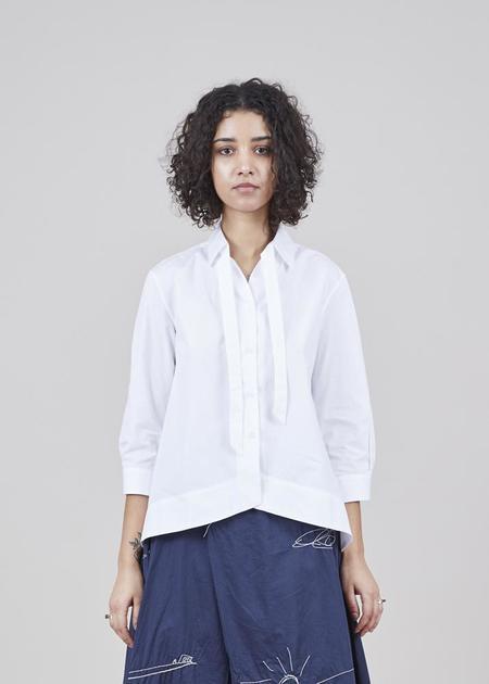 GRAMMAR NYC The Preposition Shirt - White