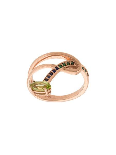 BEA BONGIASCA Gloriosa Lily hoop stacking ring - Gold