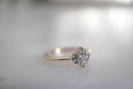 Foe and dear Beau Ring - Marquise Salt and Pepper Diamond