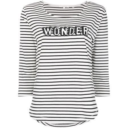 Chinti and Parker Wonder T-shirt - Ivory/Black