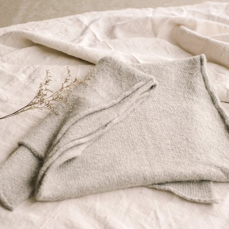 Hendrik.Lou Washed Alpaca Scarf - Ash Grey