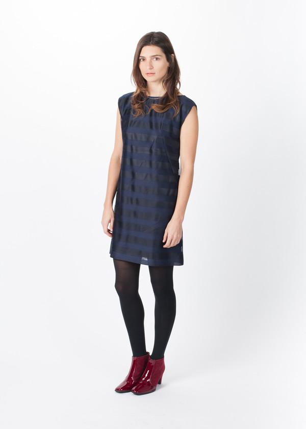 Harvey Faircloth Net Stripe Dress