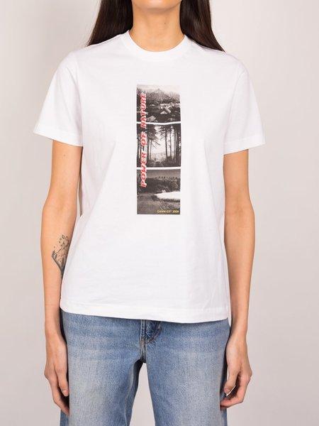 Ganni Photos Light Cotton Jersey T-shirt