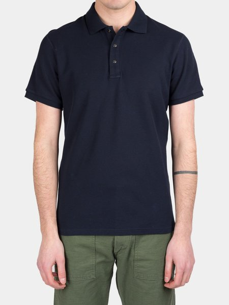 Reigning Champ Pique Polo - Navy