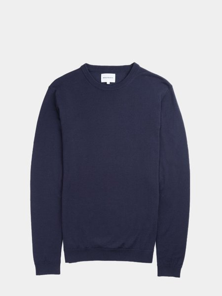 Norse Projects Sigfred Light Merino Sweater - Dark Navy