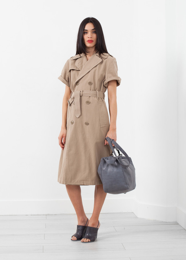 NLST Rolled Sleeve Trenchcoat