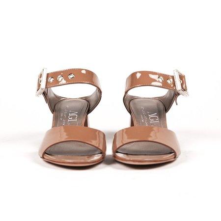 AGL Leather Sandal - Caramel