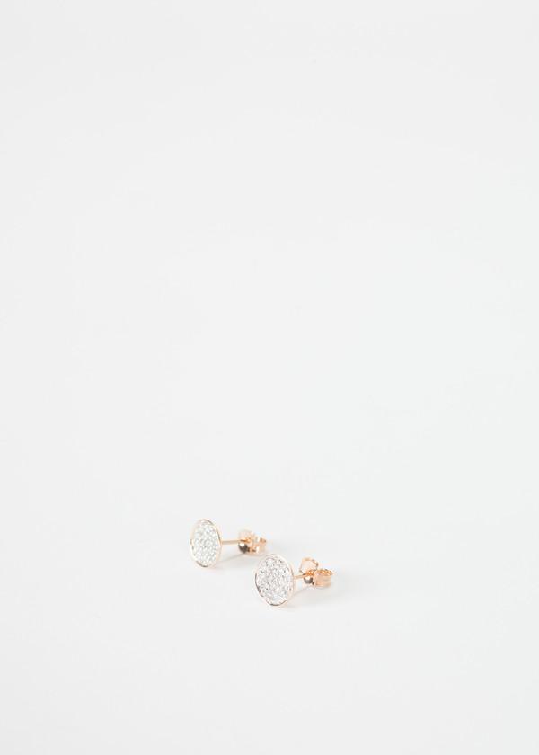 Ginette NY Round Sequin Diamond Studs