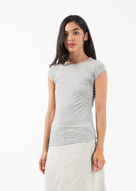 Organic by John Patrick Short Sleeve Shirttail - Grey