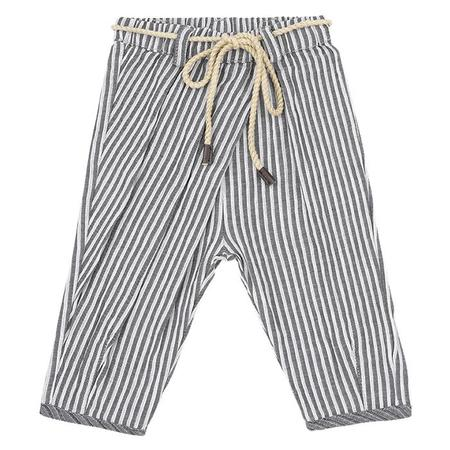 KIDS 1+ In The Family Yuko Pants - Grey/White Stripes