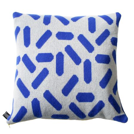 Giannina Capitani Large Tic tac cushion - grey/blue