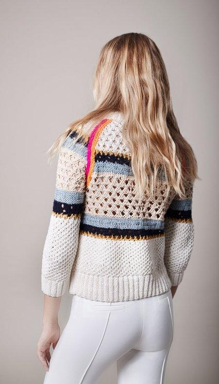 Smythe Crochet Crewneck Sweater - Natural Multi