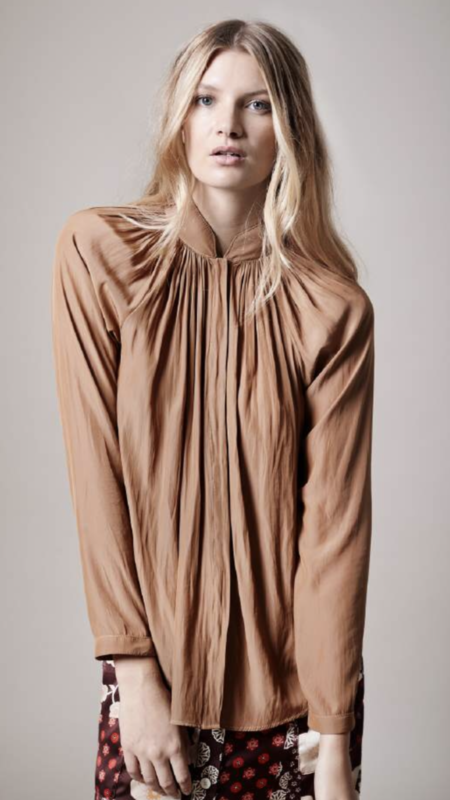 Smythe Gathered Blouse - Nut