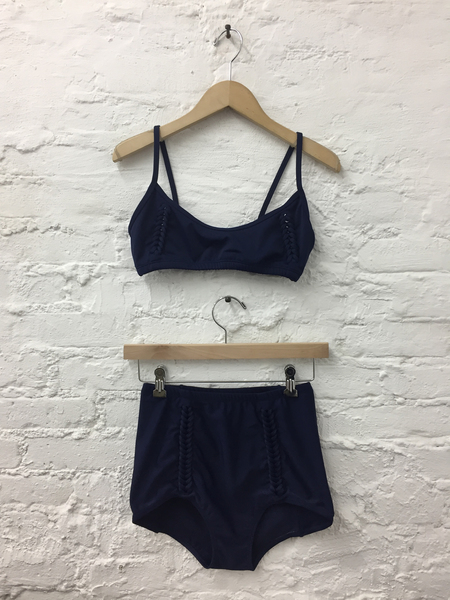 A Détacher Amanda Braided Swim Top in Navy Egyptian Blue