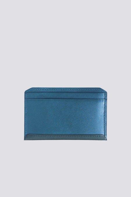 Postalco Crossgrain Leather Flat Wallet - Blue