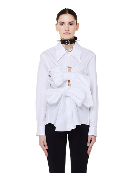 Comme des Garçons Cotton Bow Shirt - White