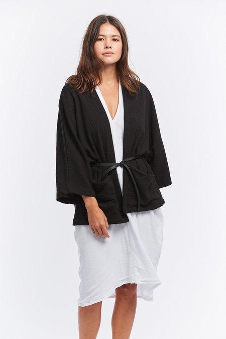 Miranda Bennett Textured Cotton Albers Jacket - Black