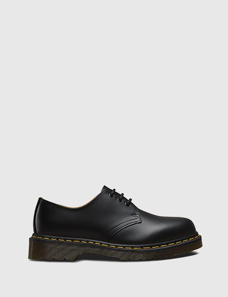 Dr. Martens 1461 Shoes - Black Smooth/Yellow