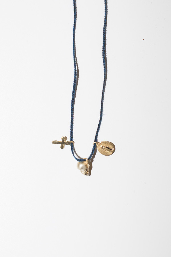 Cooperative de Creation Skull Cross Necklace
