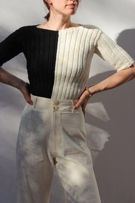 ACCIDENTE CON FLORES georgia sweater - Black/Off White