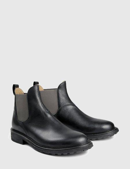 Hudson Caslon Leather Chelsea Boots - Black