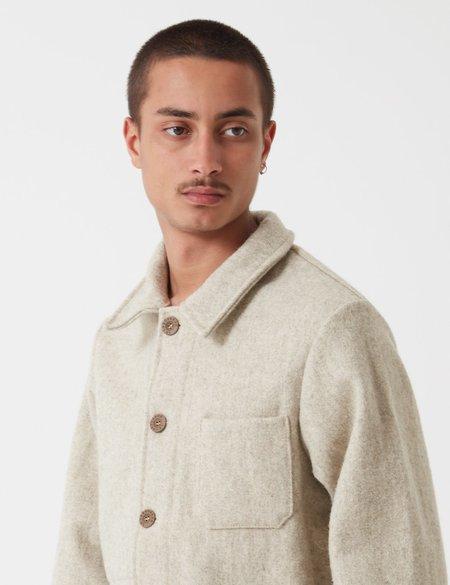 Le Laboureur Burel Wool Work Jacket - Beige