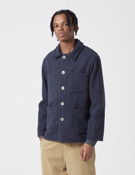Le Laboureur Wool Work Jacket - Navy