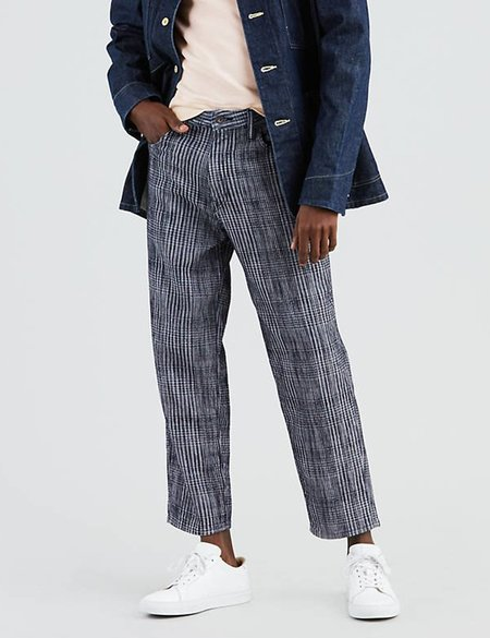 Levi's Made & Crafted Draft Taper Jeans - Weller Plaid Blue