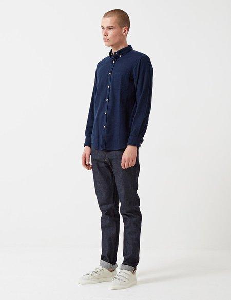 Portuguese Flannel Teca Shirt - Navy Blue