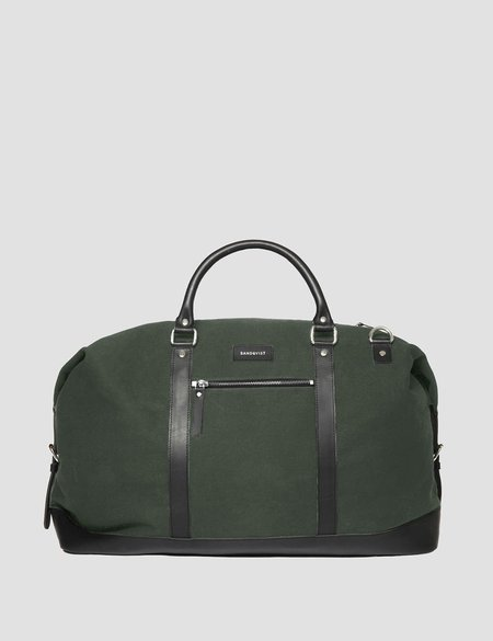 5398d076aba8 Sandqvist Jordan Canvas Weekend Bag - Beluga Green