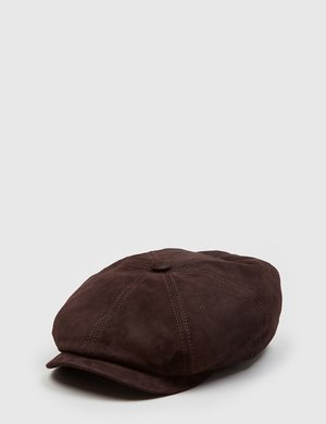 Stetson Hatteras Suede Newsboy Cap - Dark Brown c78e07262a00