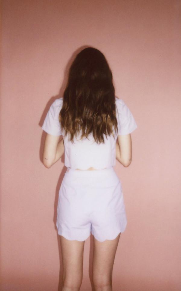 Wave blouse - lavendar