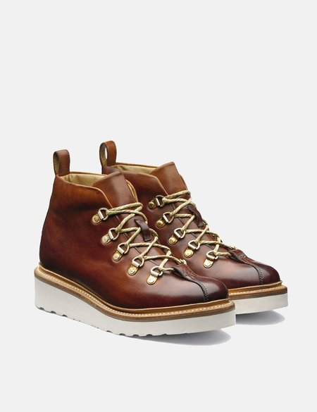 Grenson Hand Painted Bridget Ski Boot - Tan