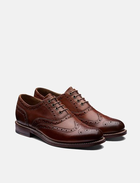 Grenson Hand Painted Rose Brogues - Tan