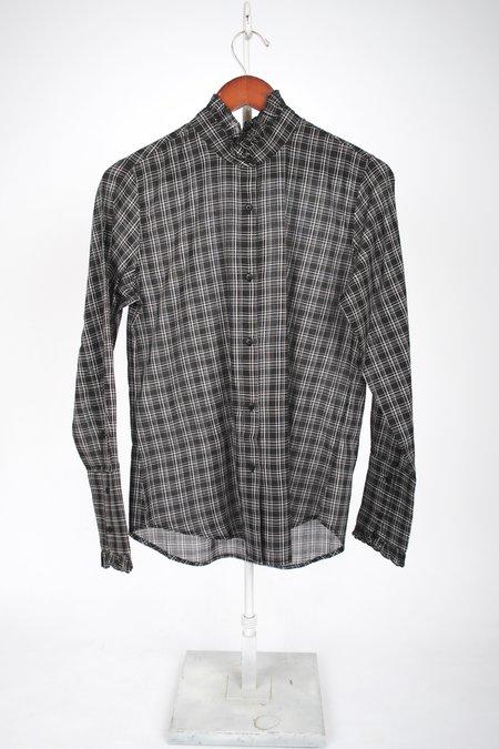 Nili Lotan Vivian Shirt - black plaid