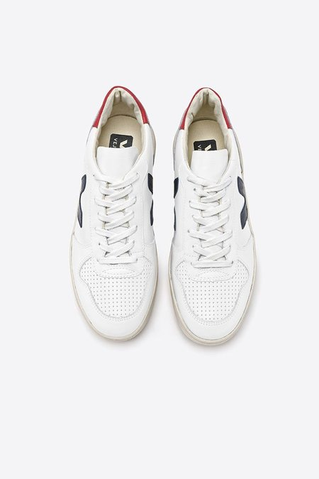 020913007220dd Veja V10 Leather Sneakers - Extra White Nautico Pekin ...