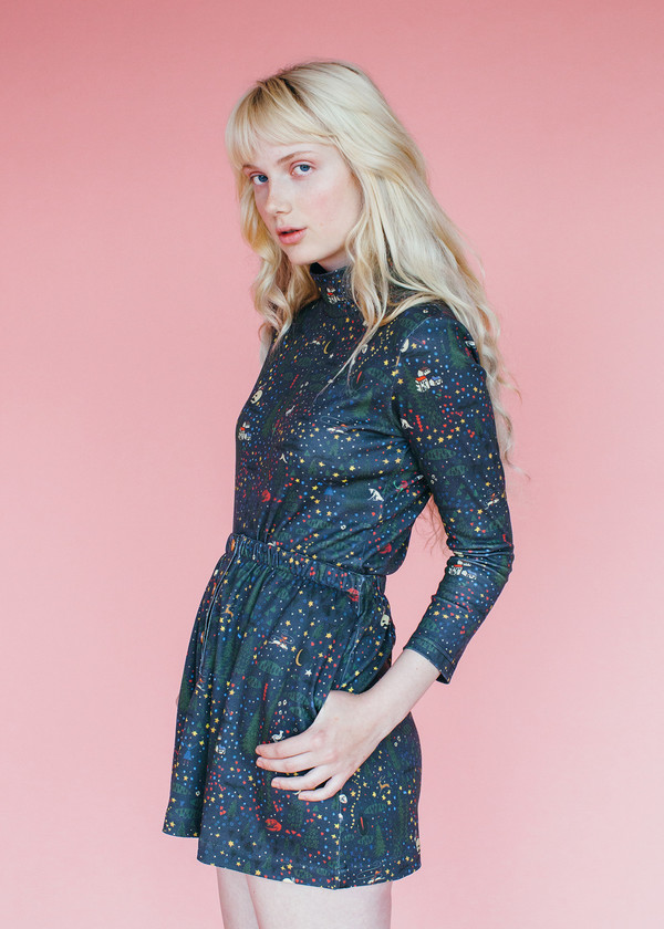 Samantha Pleet Ragamuffin Skirt - Wonderland Print