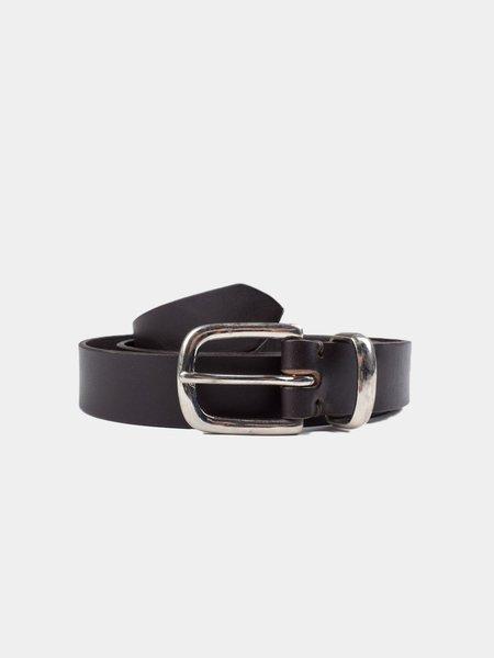 Oliver Spencer Coniston Leather Belt - Dark Brown