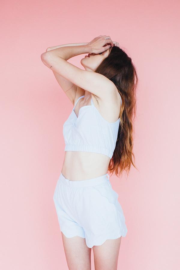 Samantha Pleet Wave shorts - sky