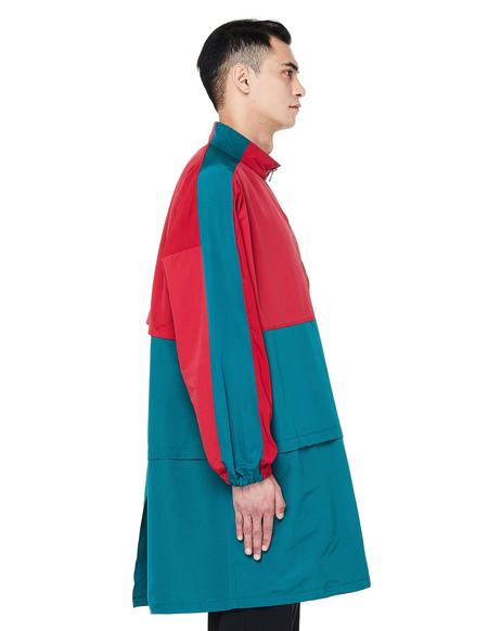 JohnUndercover Embroidered Coat - Green/Red
