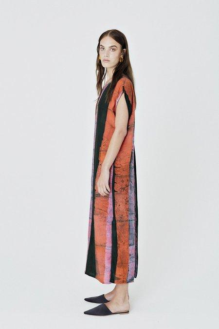 Osei-Duro Maena Boubou Dress - Carmine Streak