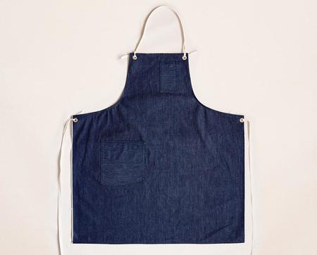 Stanley & Sons Selvage Cloth Strap Standard Apron - Dark Blue Denim