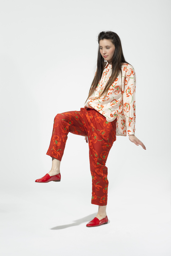 Carleen Big Shirt- Poppy Print