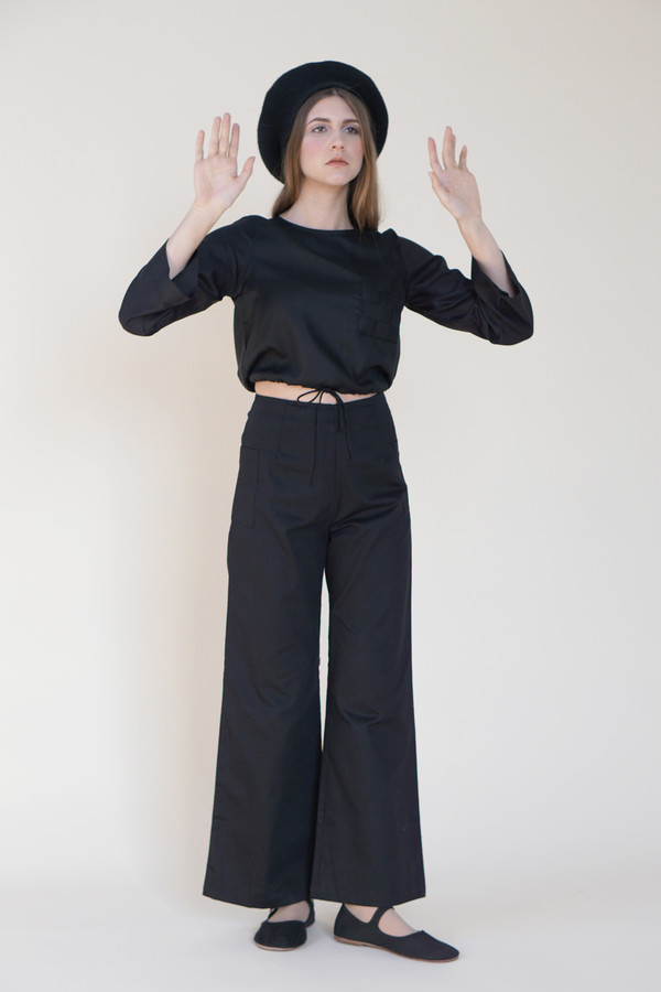 Samantha Pleet Chimney Pants - Black